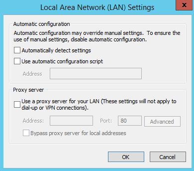 internet explorer ie lan settings connections proxy automatically detect settings configuration script