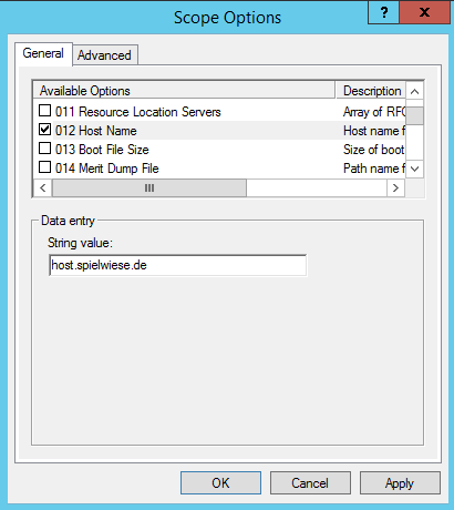 dhcp scope option 012 host name