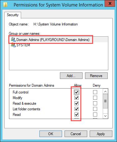 NTFS Permission