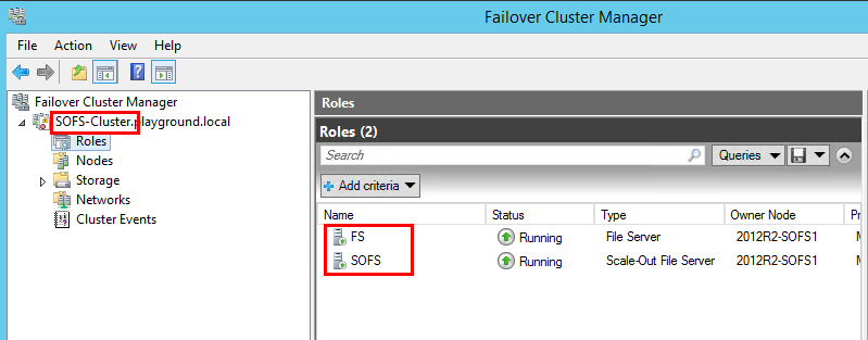 Failover Cluster Manager 2012