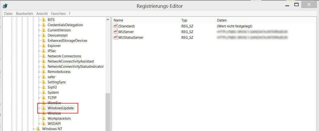 HKEY_LOCAL_MACHINE\SOFTWARE\Policies\Microsoft\Windows\WindowsUpdate