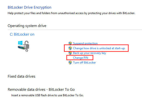 Windows Bitlocker TPM PIN