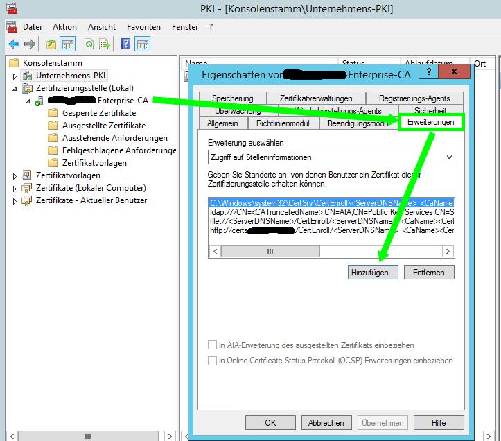 Setup OCSP PKI CA