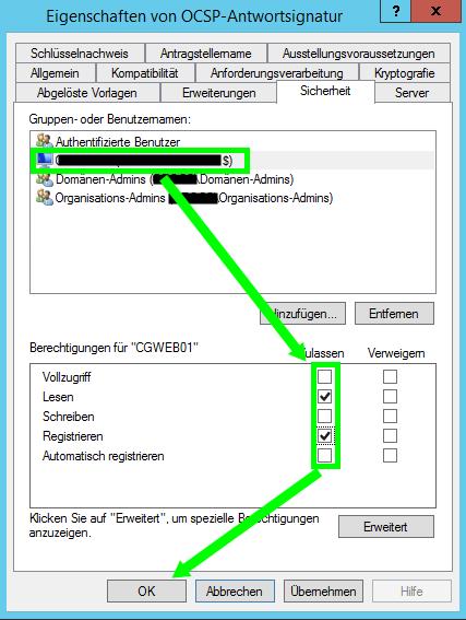 Setup OCSP Template