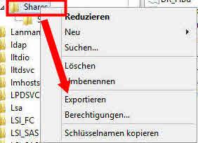 registry export