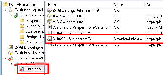 Enterprise Unternehmens PKI Windows two tier zweistufig